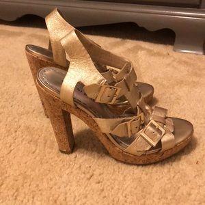 Gianni Bini silver heeled sandals